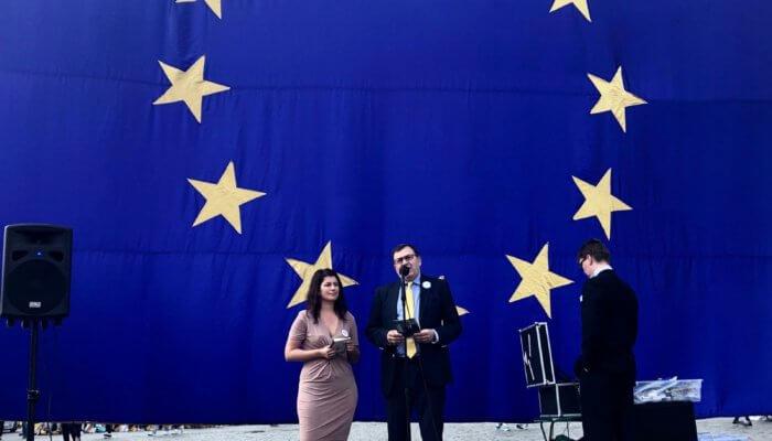 Evropské volby mají smysl! Hlas vystoupil na shromáždění proevropských stran