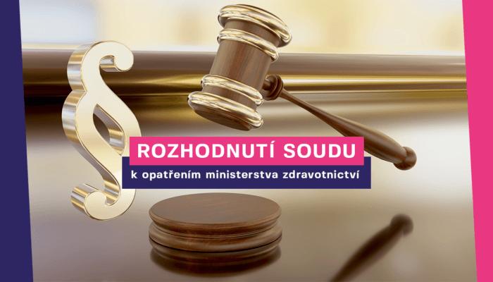 Vyjádření Hlasu krozhodnutí soudu onezákonnosti opatření ministerstva zdravotnictví